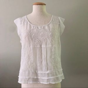 American Eagle Outtfitters Sheer Eyelet Blouse